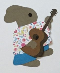 G for guitar, Rabbit playing a guitar