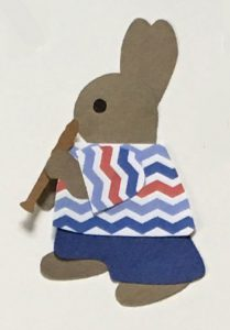 M for music, Rabbit playing a recorder