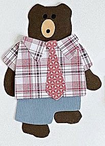 N for necktie, Bear wearing necktie