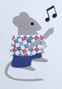 N for notes, Singing mouse with musical notes