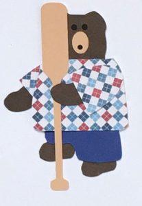 O for oar, Bear holding an oar