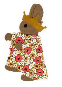 P for princess, Rabbit princess wearing a crown