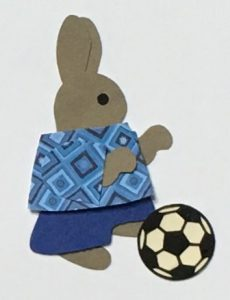 S for soccer, Rabbit with a soccer ball