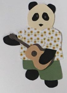 U for ukulele, Panda playing a ukulele