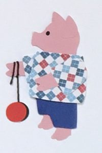 Y for yoyo, Pig playing with a yoyo